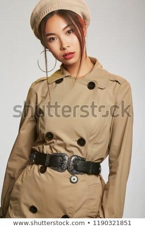 Pretty, brunette lady wearing the modern clothes Stock photo © majdansky