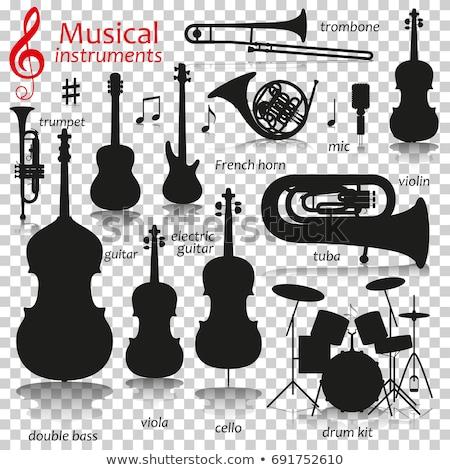 Drum Kit Musical Instrument Silhouette Stock photo © Krisdog