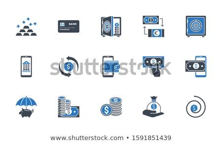 Chargeback related vector glyph icon. Stock photo © smoki