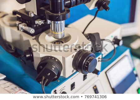 Amostra preparado investigação elétron microscópio olhos Foto stock © galitskaya