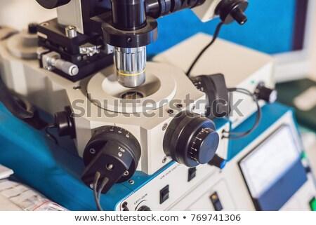 Probe vorbereitet Untersuchung Elektronen Mikroskop Augen Stock foto © galitskaya