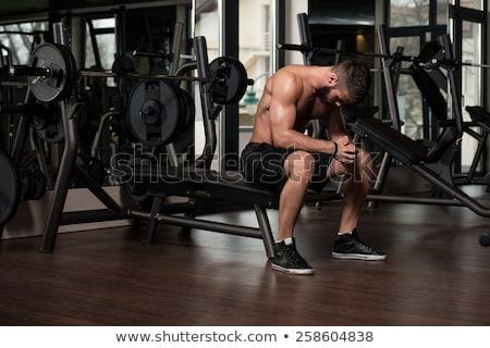 Portre uygun genç spor salonu karanlık erkek Stok fotoğraf © Jasminko