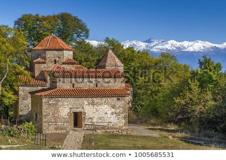 Bouwkundig oude Georgië orthodox klooster km Stockfoto © borisb17