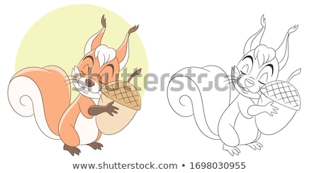 Cartoon enfants livre de coloriage page blanc noir Photo stock © izakowski