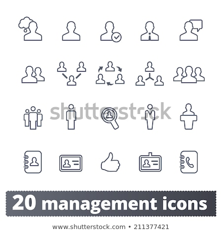 functions of person from group icon vector outline illustration Stock photo © pikepicture