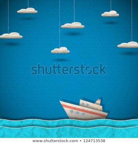 Cruise vakantie creatieve reclame banner vector Stockfoto © pikepicture