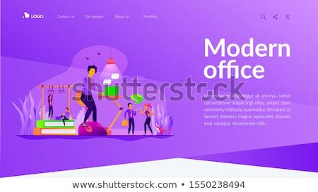 Fitness-focused workspace concept landing page. Stock photo © RAStudio