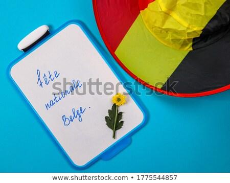 Bayrak Belçika sevmek kalp dizayn Stok fotoğraf © butenkow