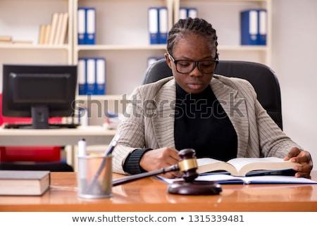 Fekete női ügyvéd bíróság törvény igazság Stock fotó © Elnur