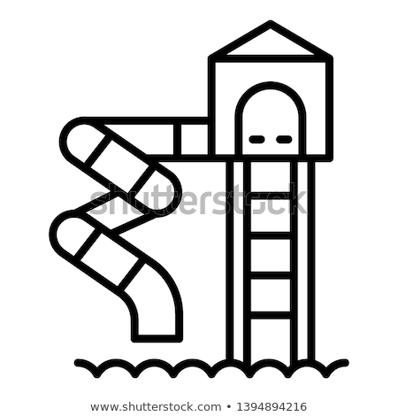 kids slide water park icon vector outline illustration Stock photo © pikepicture