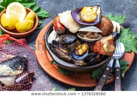 貝 典型的な 皿 レストラン ランチ ストックフォト © fxegs