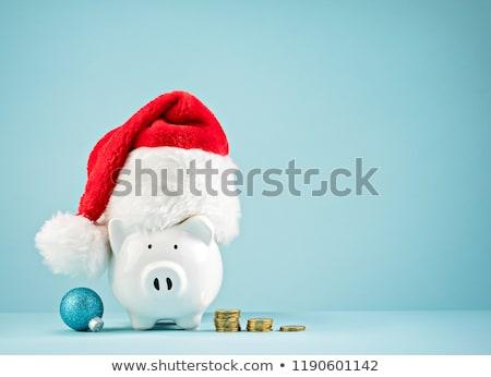 Karácsony bónusz ajándékok Euro jegyzetek fehér Stock fotó © joker
