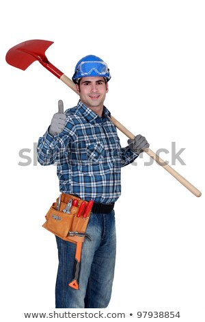 Mason with shovel giving the all clear Stock photo © photography33