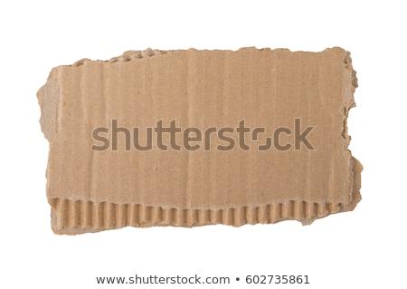 piece cardboard  Stock photo © Pakhnyushchyy
