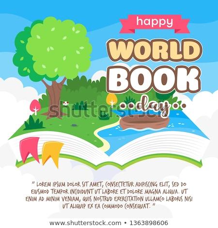 Könyvek lebeg felhő gyönyörű fogalmak olvas Stock fotó © Melpomene