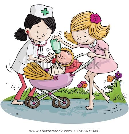 Сток-фото: девочку · играет · кукла · девушки · ребенка · Kid
