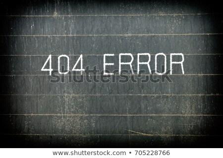 hiba · 404 · felirat · felhős · kék · ég · 3d · illusztráció - stock fotó © bbbar