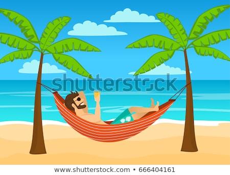 Man laying in hammock Stock photo © photography33