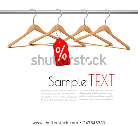 Wooden coat hanger and sale tag illustration Stock photo © experimental