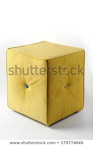 Soft footstool isolated on white background Stock photo © ozaiachin