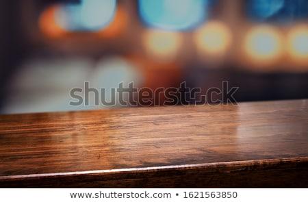 Fa asztal székek trópusi stílus fa nyár Stock fotó © Witthaya