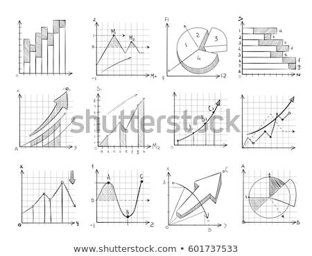 Zeichnung · Grafik · Geschäftsmann · Hand · Glas · Bord - stock foto © matteobragaglio