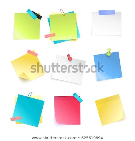Kolekcja metal kolor papieru biuro szkoły Zdjęcia stock © make