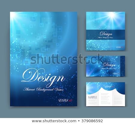 Soyut broşür su etki kâğıt arka plan Stok fotoğraf © rioillustrator