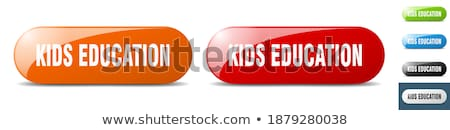educación · botones · efecto · hasta · abajo · botón - foto stock © carbouval