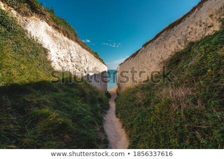 Tiza rock blanco piedra cielo azul mar Foto stock © kikkerdirk