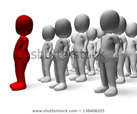 Man Leading 3d Character Showing Command And Leadership Stock photo © stuartmiles