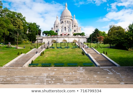 Sacre Coeur Cathedral at Montmartre, Paris Stock photo © chris2k