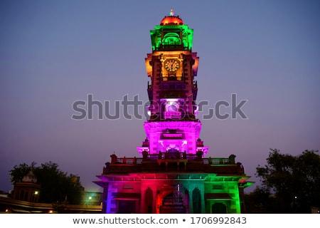 Markt nacht Indië toren gebouw stad Stockfoto © meinzahn