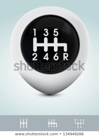 Sports car gearshift knob Stock photo © Anterovium