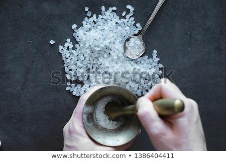 Salt in a mortar  Stock photo © grafvision