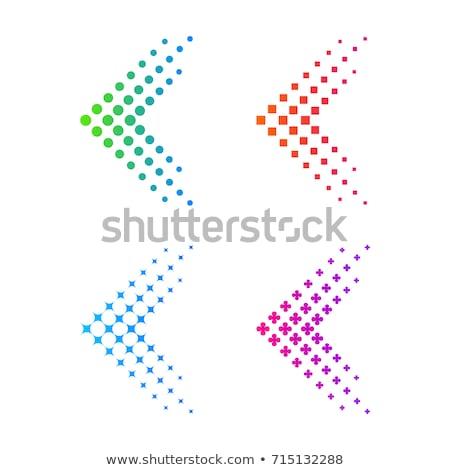 カラフル 点在 波 矢印 ビジネス テクスチャ ストックフォト © rioillustrator