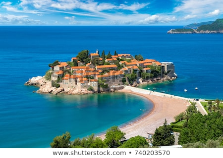 Island of Sveti Stefan, Montenegro, Adriatic sea Stock photo © vlad_star