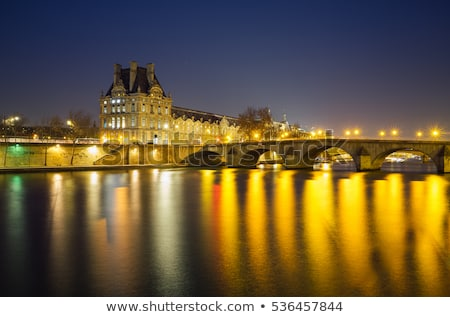 View of Louvre Palace and Pont Royal in Paris, France Stock photo © anshar