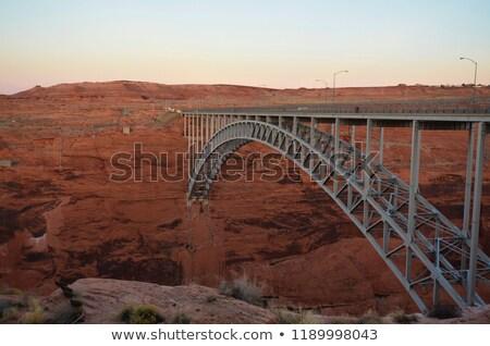 Bridge spans the the Colorado at Glen Canyon Dam near Page Stock photo © meinzahn
