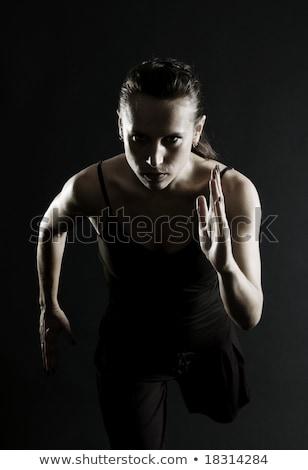 corpo · jovem · menina · escuro · belo - foto stock © chesterf