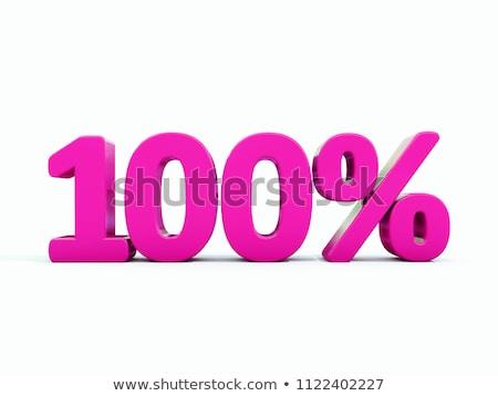 100 Percent Discount Symbol Photo stock © Supertrooper