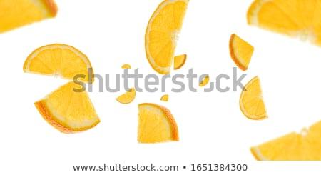 マクロ フォーム オレンジ果実 白 食品 ストックフォト © compuinfoto