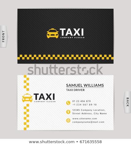 визитной · карточкой · такси · вектора · шаблон · автомобилей · печать - Сток-фото © m_pavlov