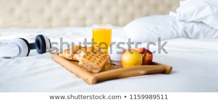 Suco de laranja pão energia suco cereal manhã Foto stock © M-studio