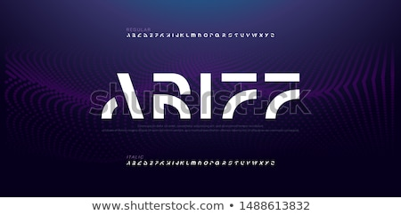 Alfabe soyut vektör okul dizayn sanat Stok fotoğraf © burakowski