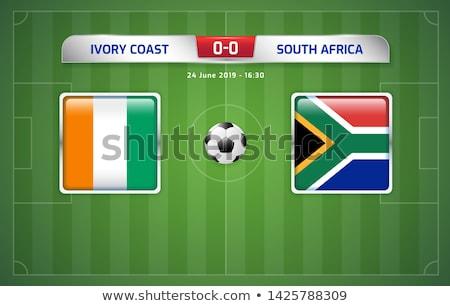 Wybrzeże Kości Słoniowej piłka widoku banderą piłka nożna Zdjęcia stock © creisinger
