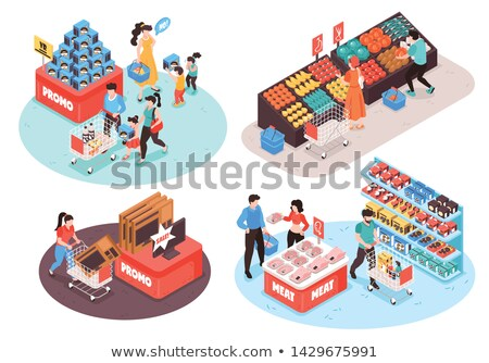 fruit and vegetable section in a shop stock photo © nejron