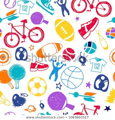 beysbol · top · vektör · görüntü · karikatür - stok fotoğraf © kali