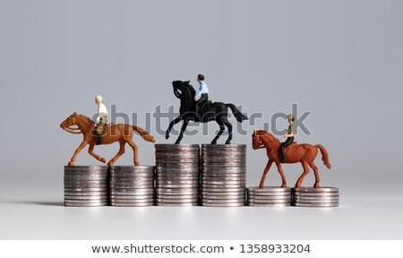 Miniature game of horse race Stock photo © bmonteny