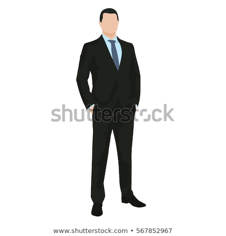 business man with hands in his pockets on dark background Stock photo © feedough